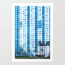 Miami Blue Art Print