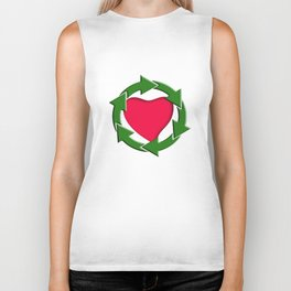 Recycle In Heart Biker Tank