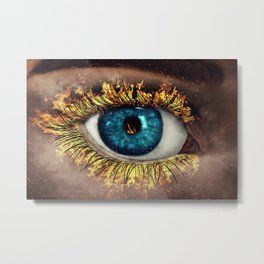 Eye in Flames Metal Print