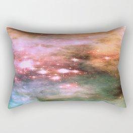 Colorful Pink Sparkle Carina Nebula Abstract Rectangular Pillow