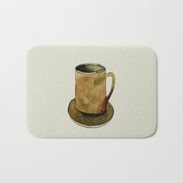 Mug on Plate Bath Mat
