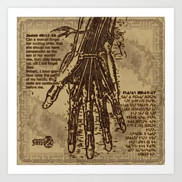 "Denkezal's take on ""God's Palms"" Art Print"