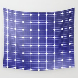 In charge / 3D render of solar panel texture Wall Tapestry