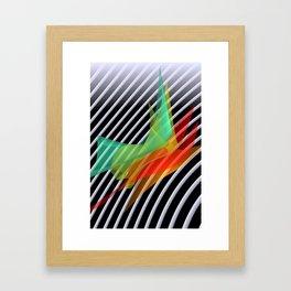 bicubic waves in opart design -1- Framed Art Print