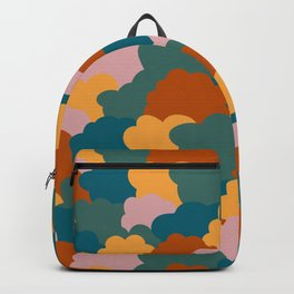 Mixed colorful clouds pattern Backpack