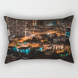 Biscayne Buildings Night Rectangular Pillow