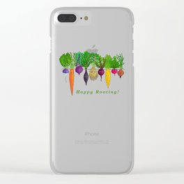 Happy Rooting! Clear iPhone Case