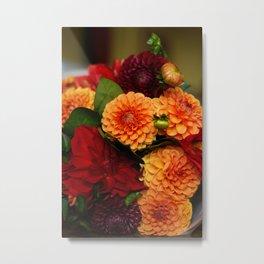Autumn Dahlias Metal Print