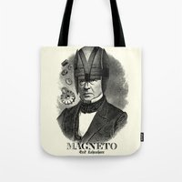 magneto Tote Bags featuring MAGNETO by DIVIDUS