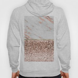 Warm chromatic - rose gold marble Hoody