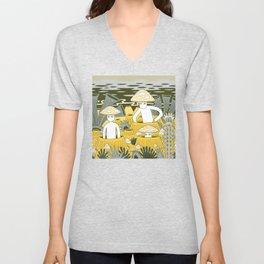 Mushroom Men Unisex V-Neck