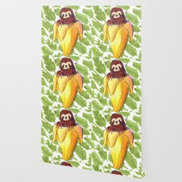 sloth banana Wallpaper