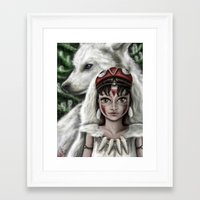 mononoke Framed Art Prints featuring Mononoke by goodgirl_arcee