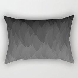 Sombre ombre black flames gradient Rectangular Pillow