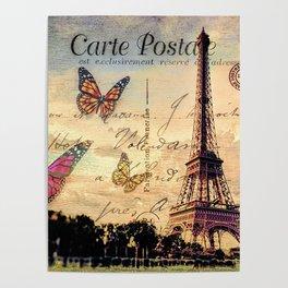 Vintage Paris-Carte Postale Poster