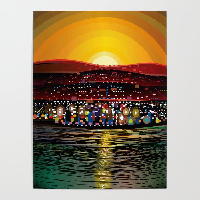 Angel Island Sunset (Square) Poster