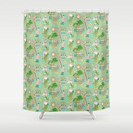 Motel Kitsch Pastel Shower Curtain