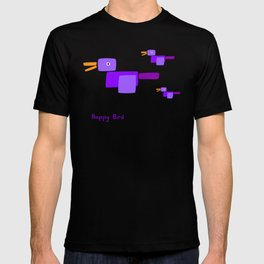 Happy Bird-Purple T-shirt