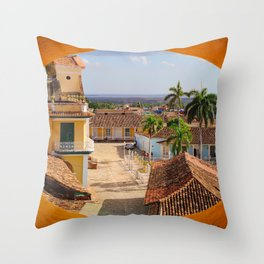 View of Trinidad Throw Pillow