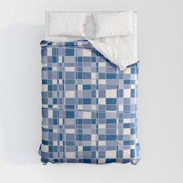 Mod Gingham - Blue Comforters