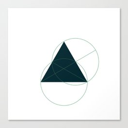 #362 Hidden truths – Geometry Daily Canvas Print