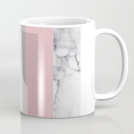 Stripes in blush and marble Coffee Mug