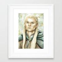 legolas Framed Art Prints featuring Legolas Greenleaf by Elise Hoglund