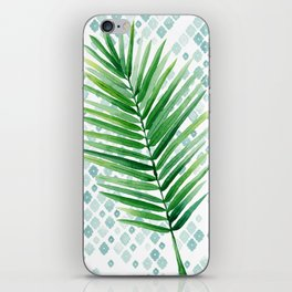 Tropical Palm Frond Watercolor Painting iPhone Skin