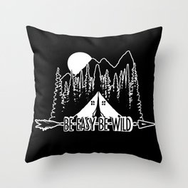 Be East Be Camp Throw Pillow