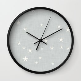 Grey star with fabric texture - narwhal collection Wall Clock