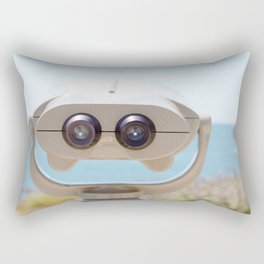 Travel photography Palos Verdes Ocean IV The view ahead Rectangular Pillow