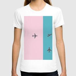 plane action T-shirt