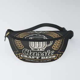 Classic craft beer artwork, for drinks lovers. Fanny Pack