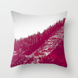 A red velvet myst fogged his eyes but they were evergreen Throw Pillow