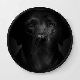 I met a girl (Black and white version) Wall Clock