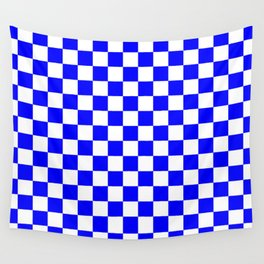Checker (Blue/White) Wall Tapestry