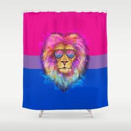 The Bi Lion Pride Shower Curtain
