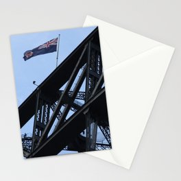 Sydney Harbour Bridge and Flag. Australia. Stationery Cards