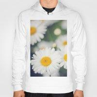 daisies Hoodies featuring Daisies by Beata Heart