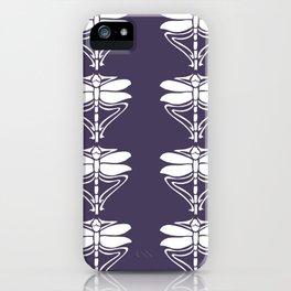 Meteorite Purple Arts and Crafts Dragonflies iPhone Case
