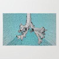 discount Area & Throw Rugs featuring Trachea et Bronchi B by Aleksandra Mikolajczak