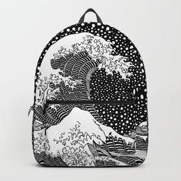 The wave of Kanagawa. Hokusai Backpack