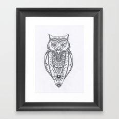 O W L - B&W Framed Art Print