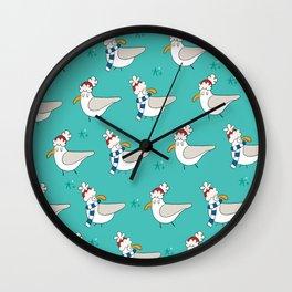 Brighton seagulls Wall Clock