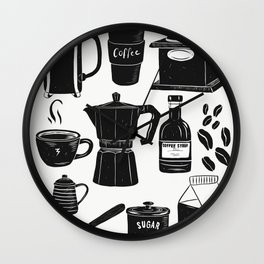 Coffee Culture Wall Clock