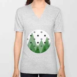 Christmas mountains Unisex V-Neck