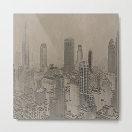 Old Cityscape Metal Print