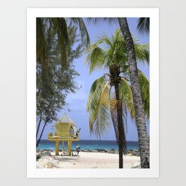 Caribbean lookout Art Print