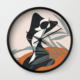 Abstract Female Figure 21 Wall Clock