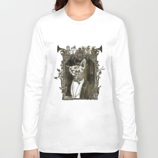Steampunk Mr. Sphinx Long Sleeve T-shirt